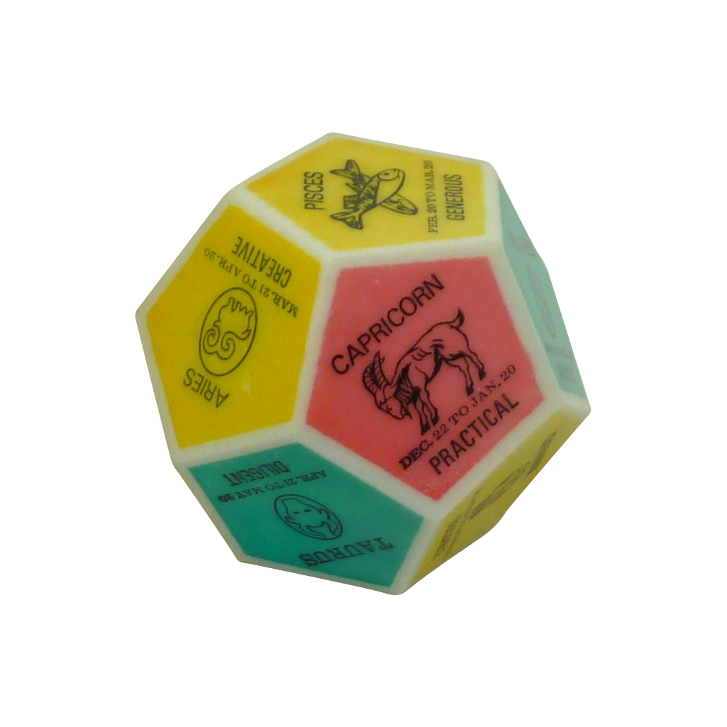 12 Sided Astrology Colorful Paperweight