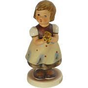 "M.I. Hummel Little Girl with Flowers ""For Mother"" Figurine – 1970's"