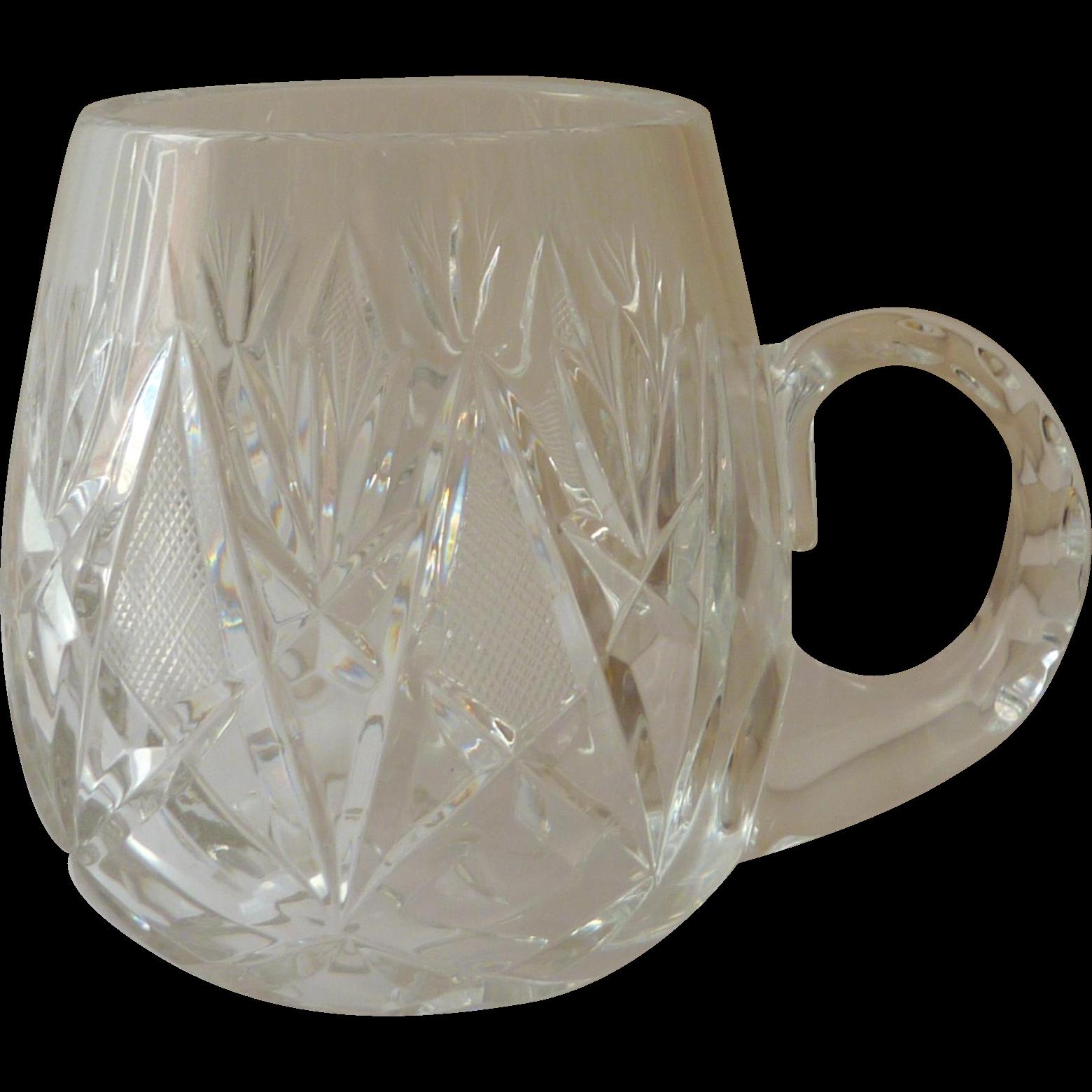 Clear Crystal Beer Stein Mugs Sophisticated Look