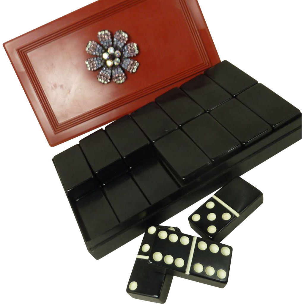 Crisloid Black Set of Dominos Game