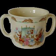 Royal Doulton Punch and Judy 2 Handled Cup Bunnykins