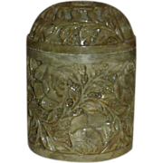 Green Soap Stone Large Container Box Jar