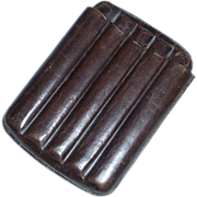 Leather Cigar Holder for Pocket or Sport Coat