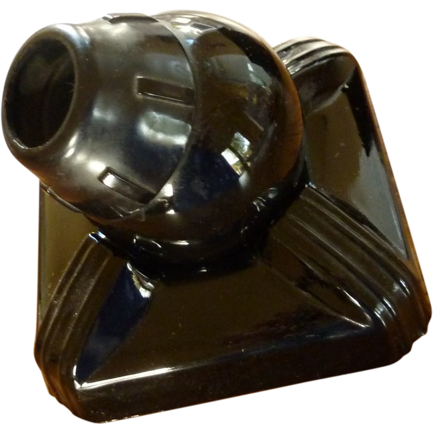 Black Glass Zephyr American Ink Well 1930's