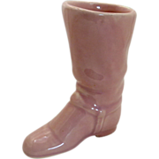 Pink Cowboy Boot Pottery Ceramic Planter