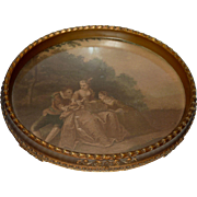 Vintage Oval Vanity Tray with Feet
