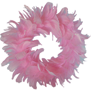 Pink Feather Baby Wreath with Beads