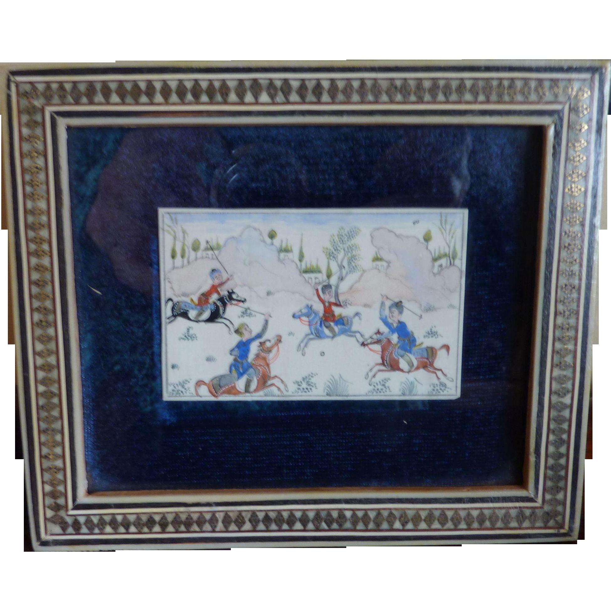 H Ali Sajjadi Miniaturist Art Painting Framed Picture