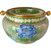 Asian Cloisonné Cloisonne Flip Lid Ashtray