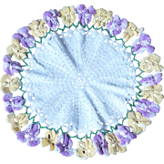 Floral Flower Pansies Doily