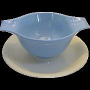 Homer Laughlin Skytone Plain 1950's Under plate Gravy / Sauce Bowl