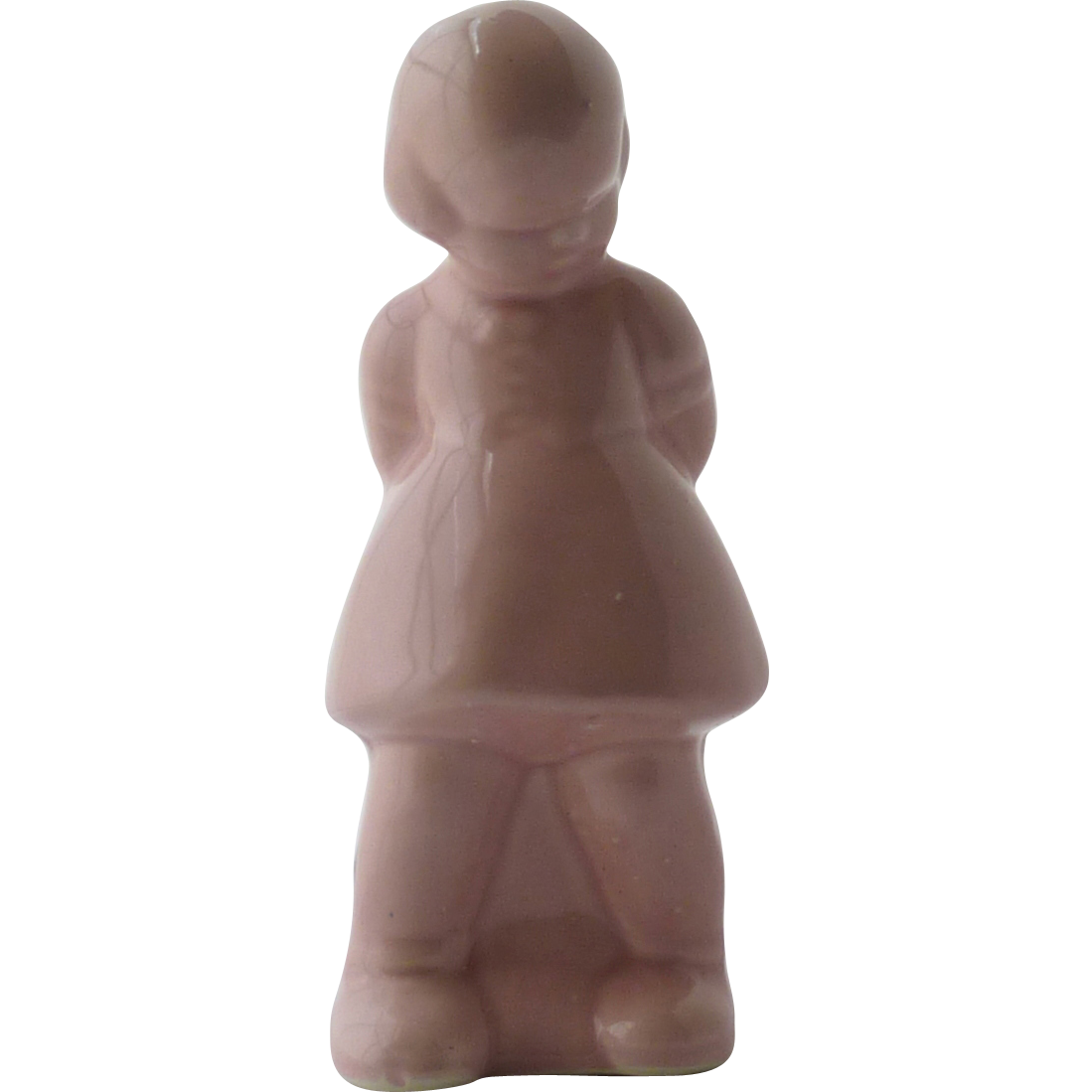 Pink Shy Girl Ceramic Pottery Planter