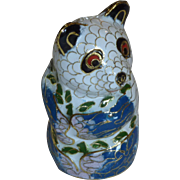 Adorable Small Cloisonné Panda Bear