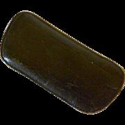 Black Leather Slim Glass Case