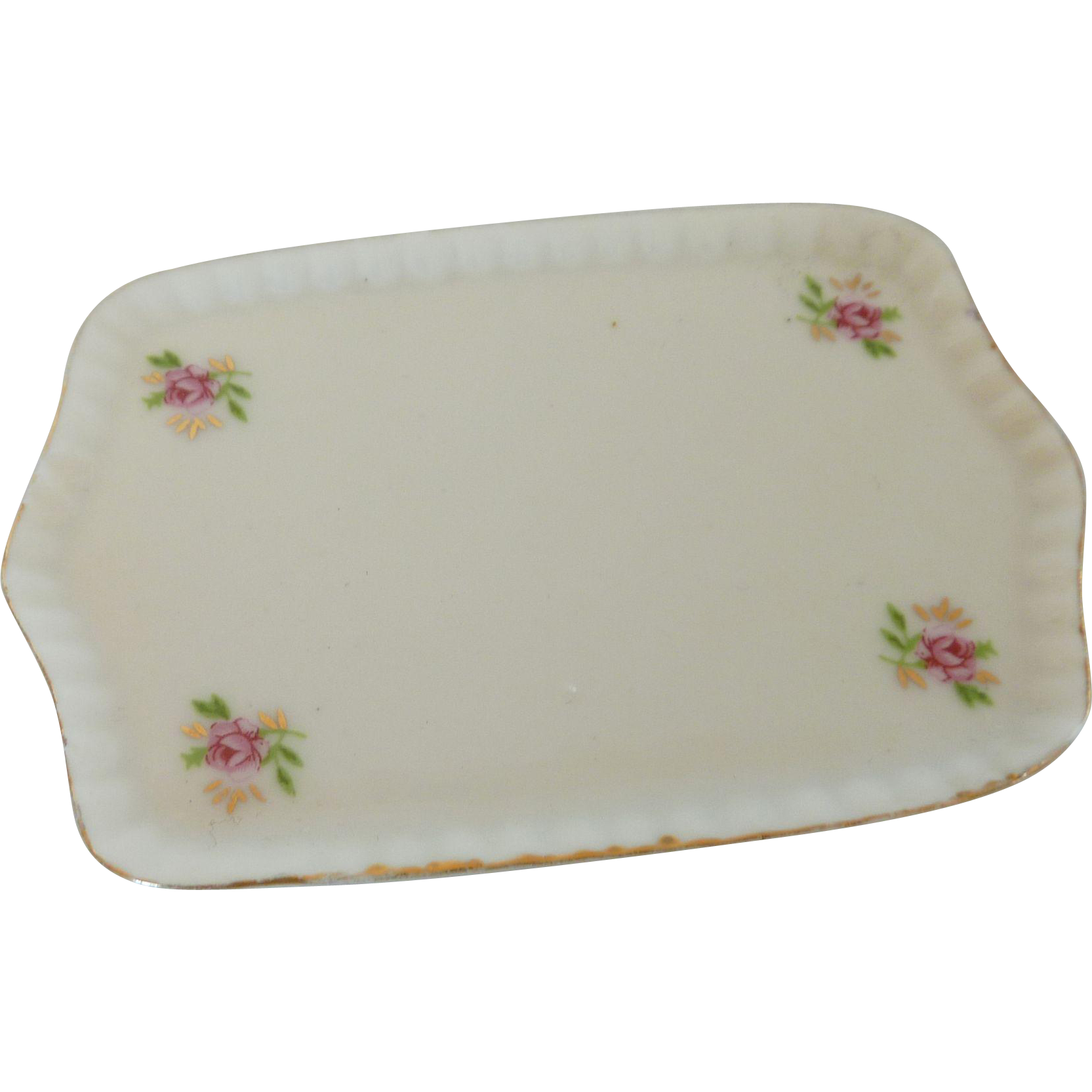 Small Porcelain Tray with Roses
