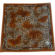 Leopard Brown Black and Orange Hanky Handkerchief