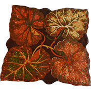 Bold Autumn Leaves Leaf Handkerchief Hanky