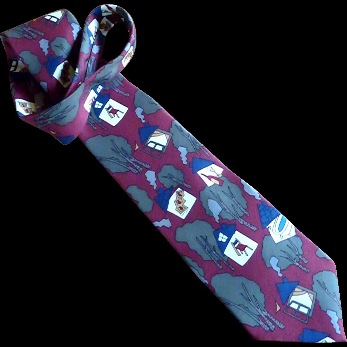 """""""Norwegian Wood"""" Beatle Silk Dress Tie"""