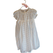 Vintage Christening Baby White Dress