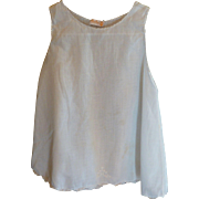 Hand Made White Baby Slip