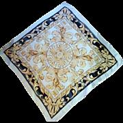 Black, Gold and Crème Echo Silk Scarf