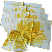 Vera  Neumann Early 1960's Placemat and Napkin Set