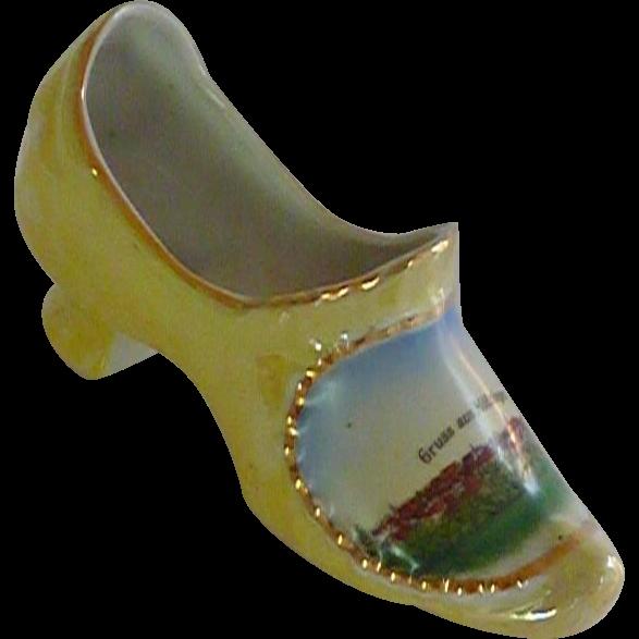 Gruss aus Motzingen China Porcelain Slipper