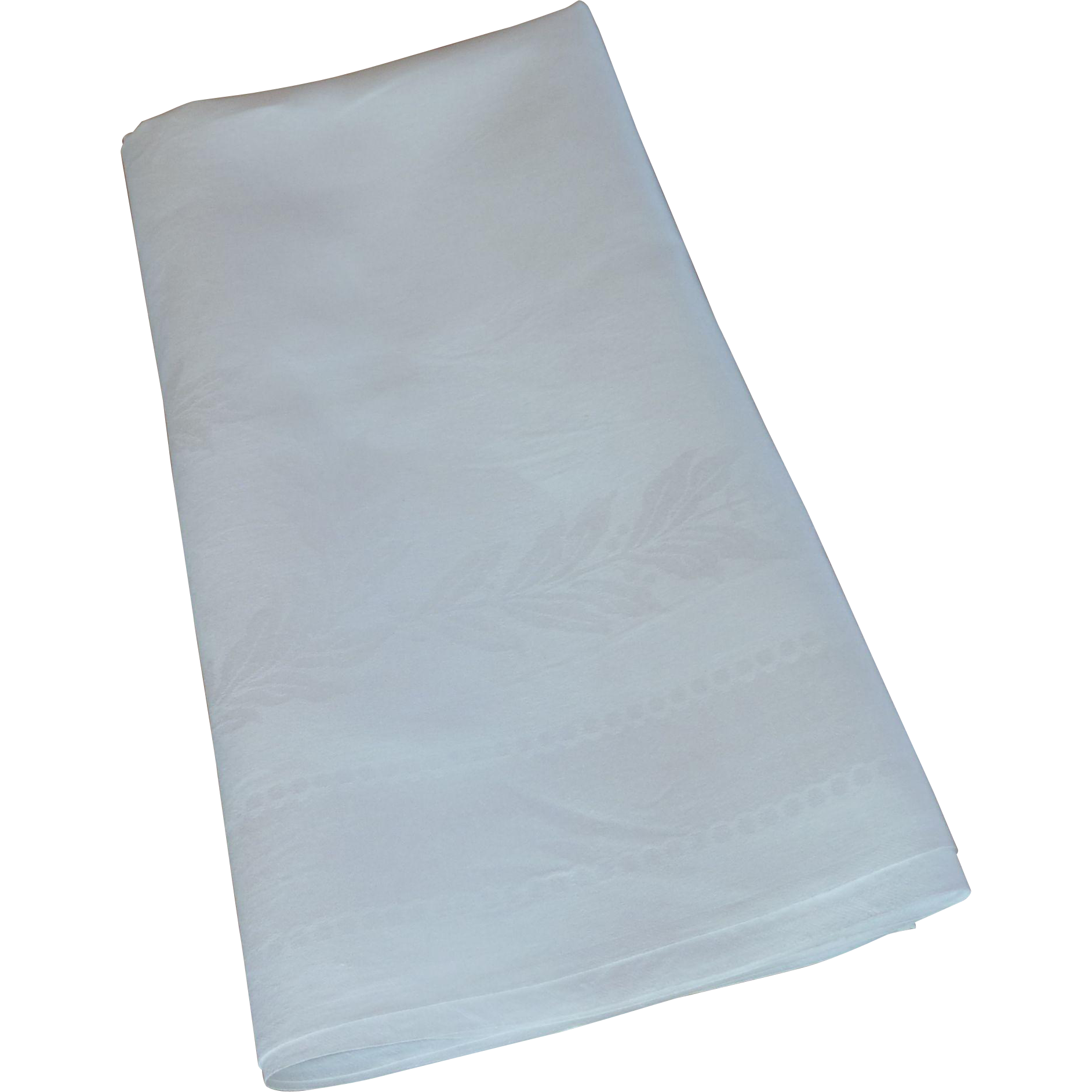 White Damask Linen Card Table Tablecloth