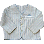 Toddler Danny Dare Blue White Stripe Medium Jacket