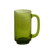 Avocado Green Glass Gas Station Drinking Mug
