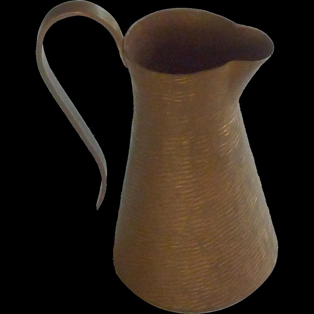 Unique Copper Small Decorative Pitcher