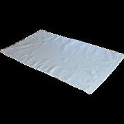 Large Damask White Hand Towel  1940's