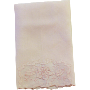 Lovely Pink Applique Hand Towel