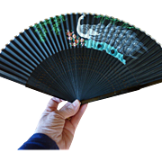 Beautiful Hand Fan with Peacock