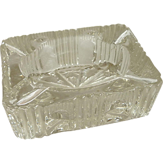 Small Pressed Glass Ashtray Circa 1940's