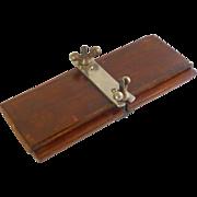 Vintage Wood Tie Iron Press