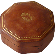 Beautiful  Leather Like Italy Trinket Box