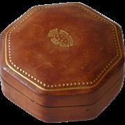 Beautiful  Leather Like Italy Trinket Box
