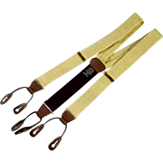 Ferrell Reed Yellow Linen Men's Dress Braces