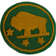 Bison North Dakota State University Felt Patch 1940's