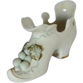 Lefton Porcelain Vintage Grape Slipper Shoe