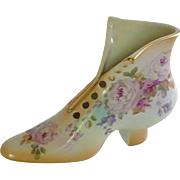 Lovely  Porcelain Slipper Floral Shoe
