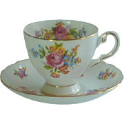 Tuscan Fine Bone Chine Cabbage Roses Tea Cup