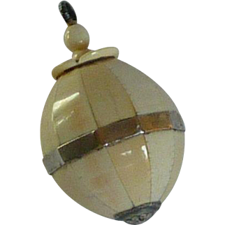 Small Celluloid Flacon  Perfume with Screw Top