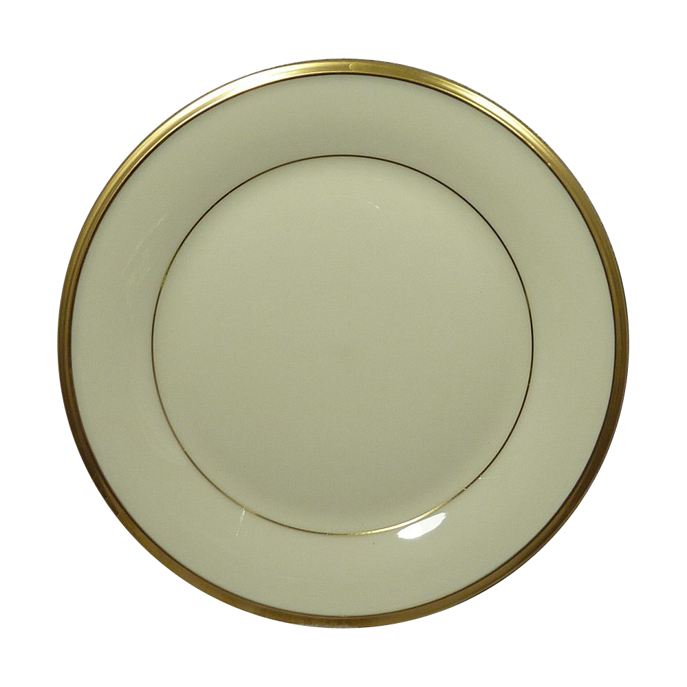 Lenox China Pattern Eternal Gold Trim Bread & Butter  Plate