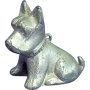 Art Metal Scottish Terrier Dog Figurine Paper Weight
