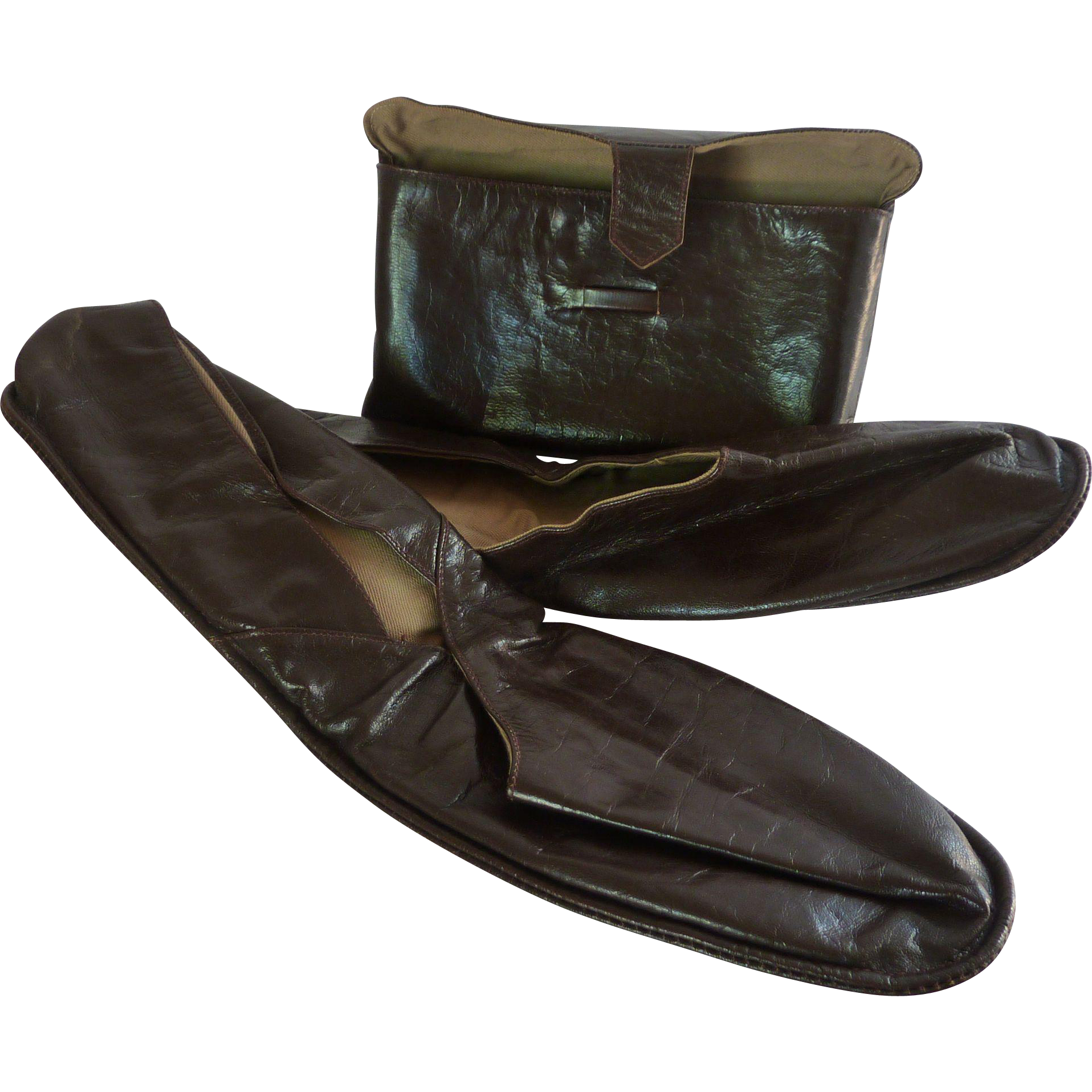 men s leather house shoes in envelope pouch size 12 from rarefinds