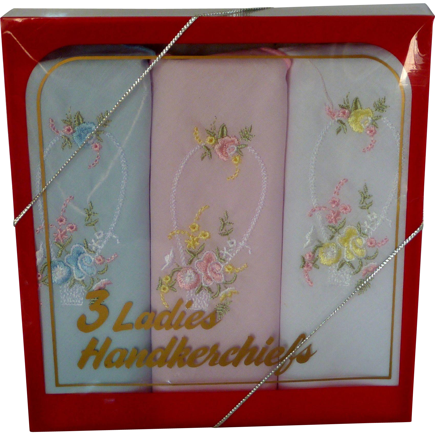 Three Pack Ladies Handkerchiefs 1991