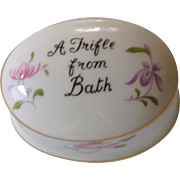Floral Staffordshire White Bone China Trinket Dish
