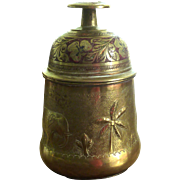 Elephant Bells in Brass Container / Stand
